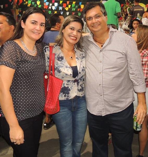 Primeira-dama Daniela Lima, Rosângela Curado e seu ex-chefe, governador Flávio Dino