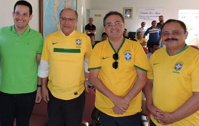 Alexandre Almeida, Geraldo Alckmin, Roberto Rocha e Waldir Maranhão