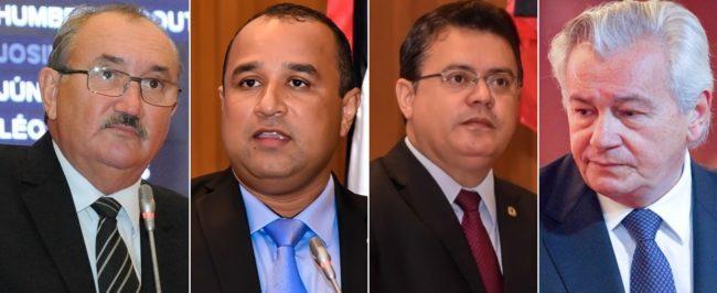Deputados César Pires, Roberto Costa, Rigo Teles e o ex-deputado Arnaldo Melo
