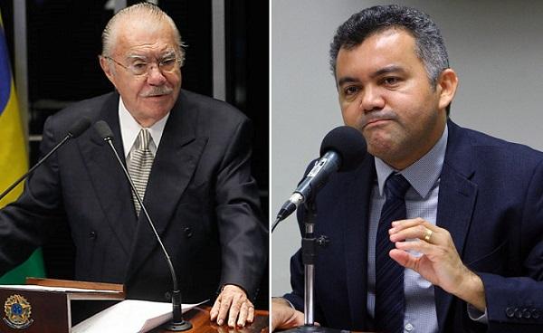 Ex-presidente José Sarney e o deputado federal Cléber Verde