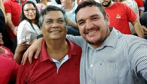 Governador Flávio Dino ao lado do seu amigo Fabrício Oliveira