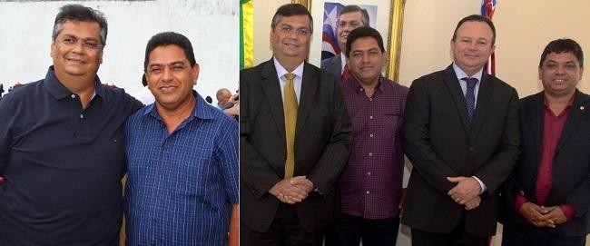Irmão de Márcio Jerry em dois momentos ao lado do governador Flávio Dino