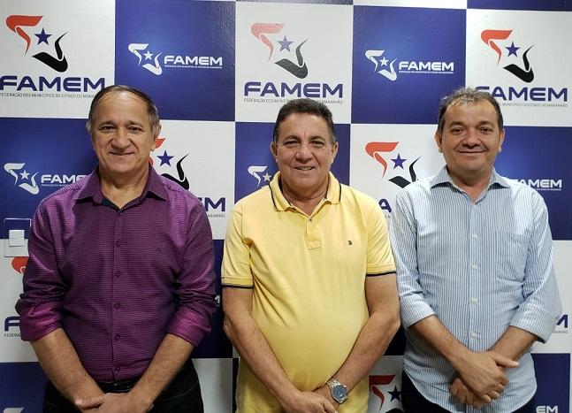 Prefeitos Djalma Melo, Cleomar Tema e Miltinho Aragão