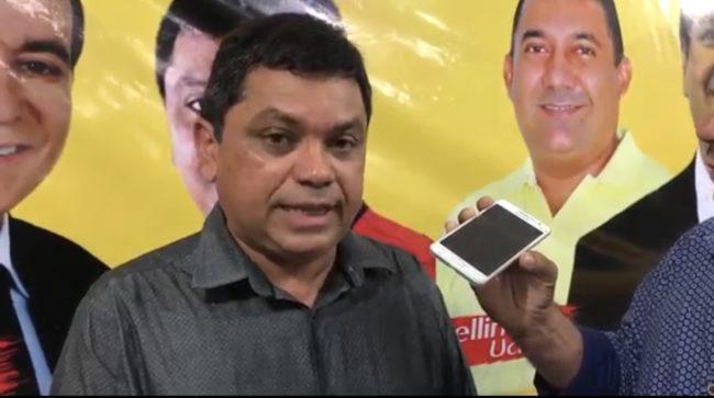 Márcio Jerry em entrevista na cidade de Presidente Vargas-MA