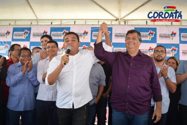 Prefeito Luís da Amovelar Filho ao lado do governador Flávio Dino