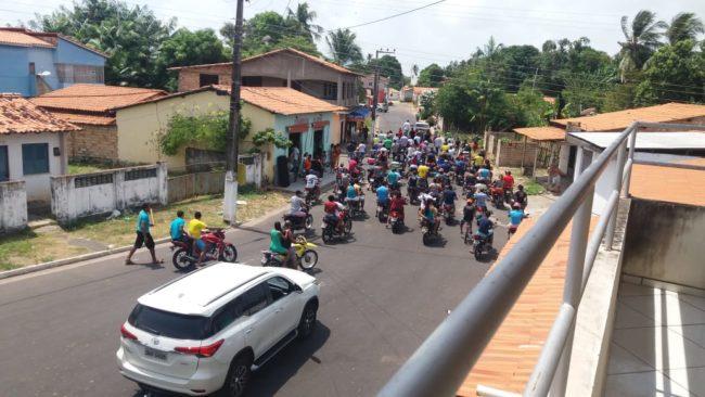 Caminhada com motocada não empolgou a chegada de Roseana e Sarney Filho em Porto Rico-MA