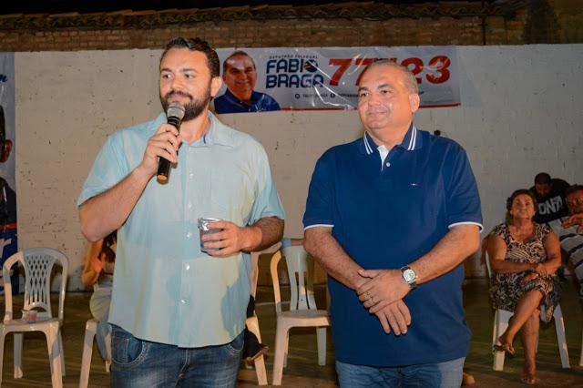 Vereador Camilo ao lado do deputado Fábio Braga em Coroatá