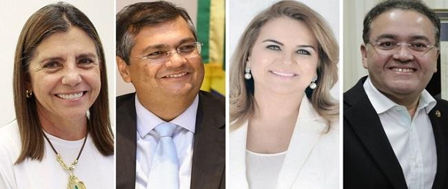 Roseana Sarney, Flávio Dino, Maura Jorge e Roberto Rocha