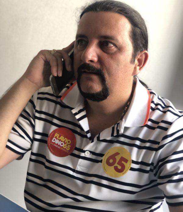 Deputado Júnior Verde no seu escritório de campanha em São Luís-MA