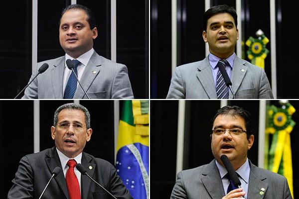 Deputados Weverton Rocha, Rubens Pereira Júnior, Zé Carlos e Júnior Marreca