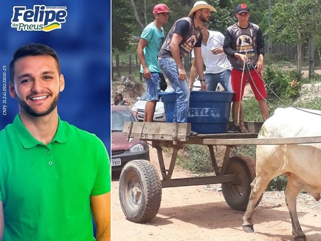 Felipe dos Pneus faz campanha oferecendo bebida alcoólica