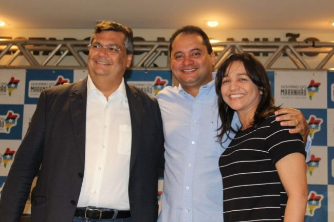 Flávio Dino, Weverton Rocha e Eliziane Gama