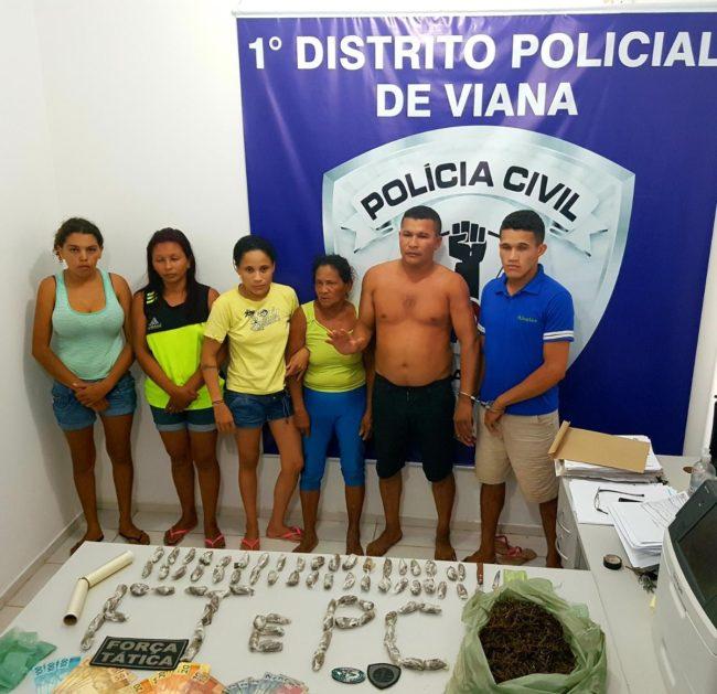 Suspeitos presos serão investigados pelos crimes de associação para o tráfico e tráfico de drogas