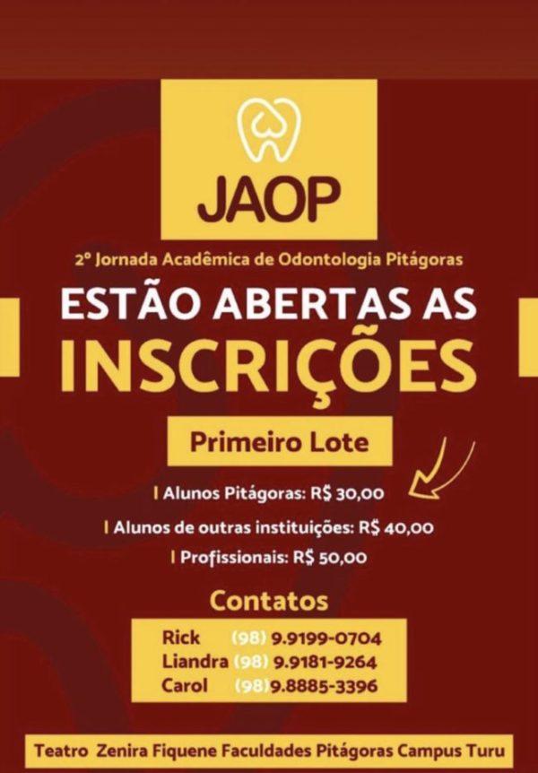 II Jornada acadêmica de Odontologia Pitágoras