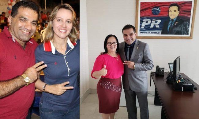 Josimar de Maranhãozinho ao lado da mulher Detinha e da candidata Belezinha