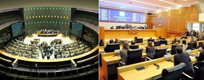 Plenários da Câmara dos Deputados e da Assembleia Legislativa do Maranhão