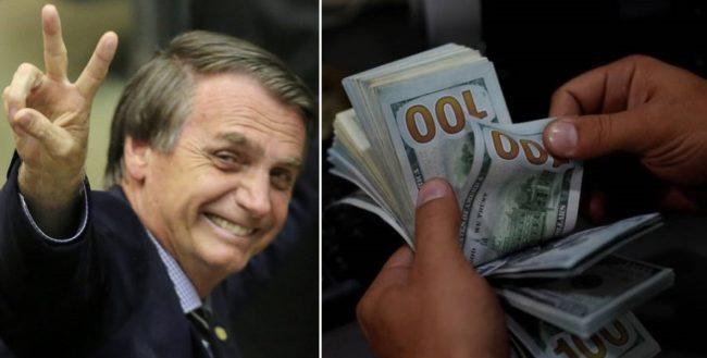Votação de Jair Bolsonaro tem influência na queda do Dólar, que recuou 2,35%, a R$ 3,7662 na venda