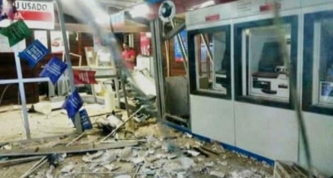 Agência do Banco do Brasil ficou completamente destruída após ataque dos bandidos em Bacabal