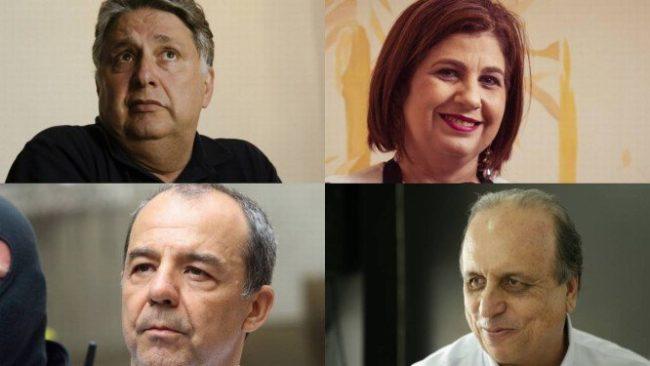 Anthony Garotinho, Rosinha Garotinho, Sérgio Cabral e Luiz Fernando Pezão todos os governadores eleitos desde 1998 foram presos