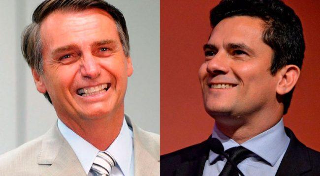 Bolsonaro e seu ministro Moro