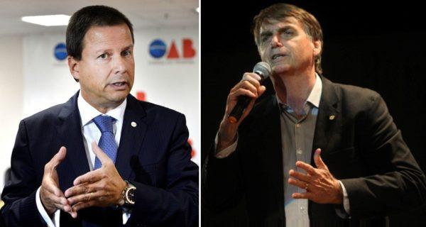 Cláudio Lamachia e Jair Bolsonaro