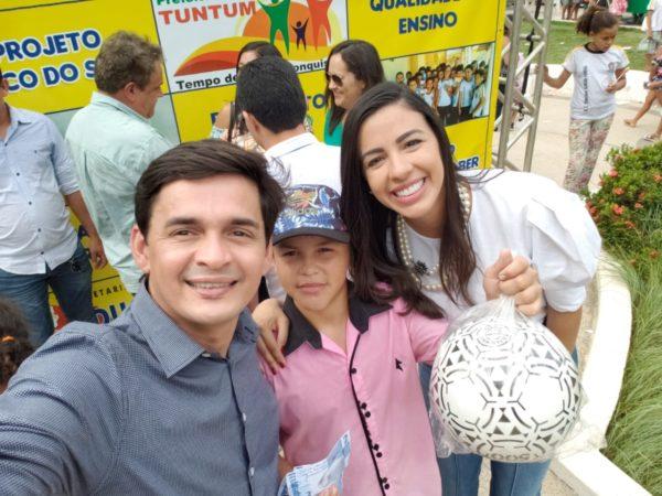 Secretário Magno Melo e a deputada eleita Daniela Tema