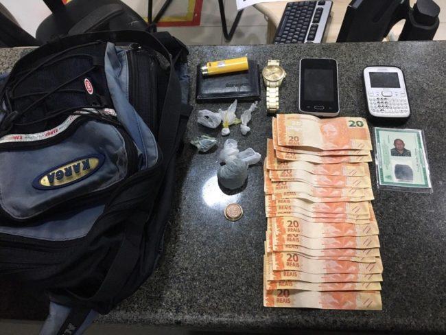 Material apreendido pela polícia foi encontrado durante uma abordagem no Bairro de Fátima em São Luís