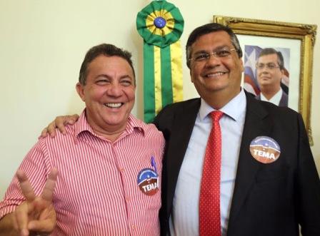 Prefeito Tema e governador Flávio Dino