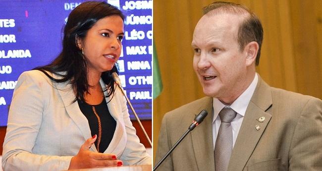 Deputada Ana do Gás e o deputado Márcio Honaiser