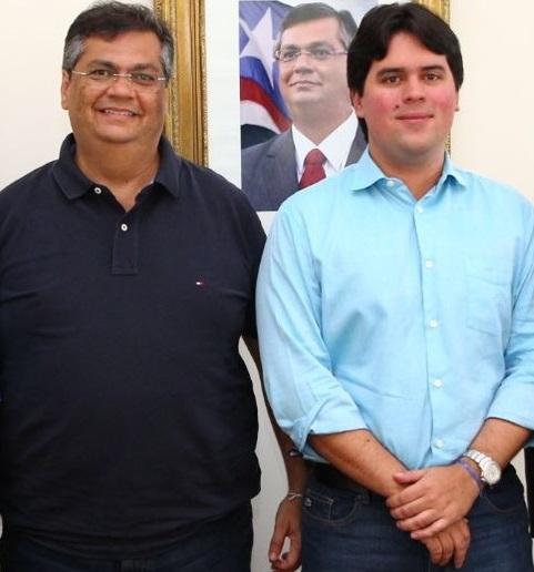 Governador Flávio Dino e seu aliado deputado federal André Fufuca