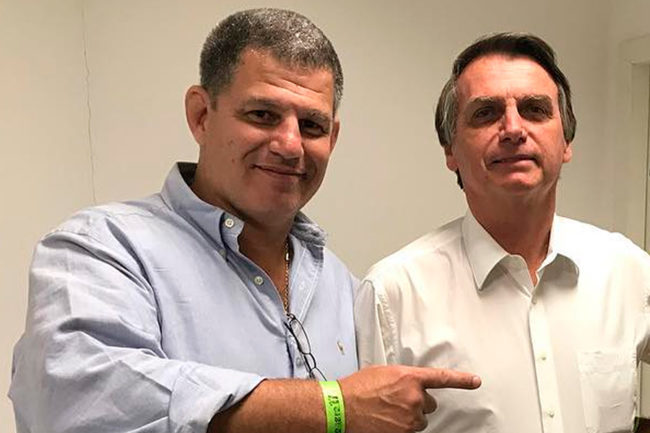 Gustavo Bebianno e o presidente Jair Bolsonaro