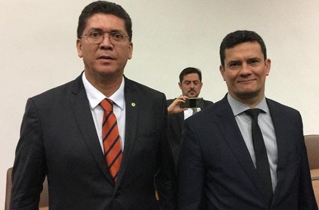 Jefferson Portela e Sérgio Moro em Brasília