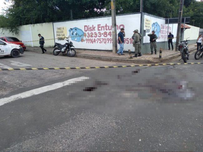 Policial foi baleado na frente do filho, na Zona Leste de Teresina