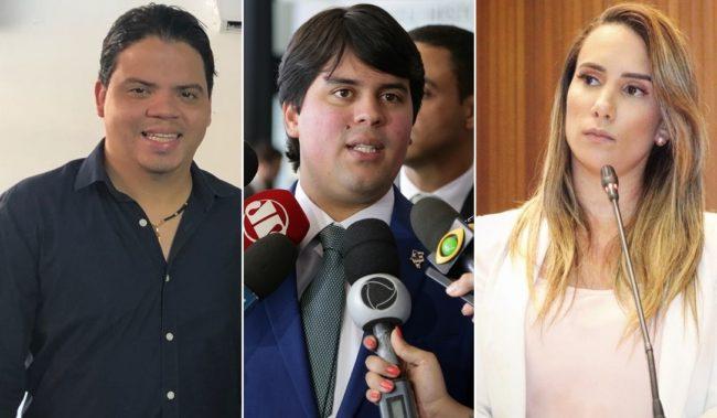 Prefeito Luciano, deputado federal André Fufuca e a deputada estadual Dra. Thaiza