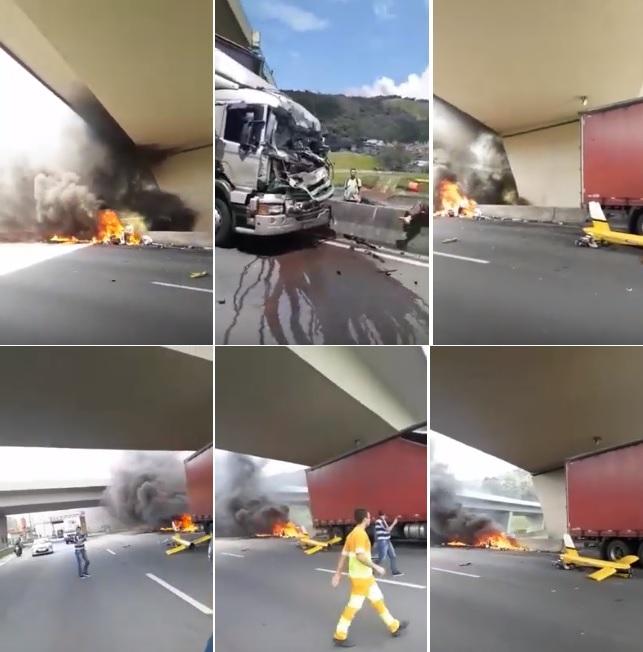 Vídeo do acidente de helicóptero com Ricardo Boechat