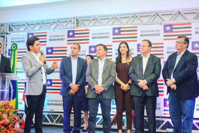 Secretário Magno Melo em discurso durante evento do governo