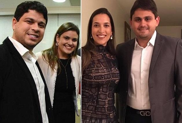 Casais de médicos Rodolfo Leite, Luanna Rezende, Lia Fialho e Juscelino Filho