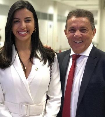 Deputada Daniella Tema e o prefeito Cleomar Tema
