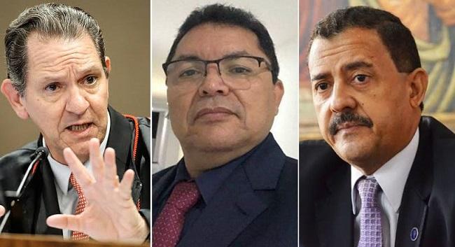 Ministro João Otávio, prefeito cassado George Luiz e o desembargador José Joaquim