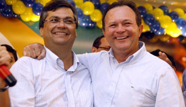 Governador Flávio Dino e o vice-governador Carlos Brandão
