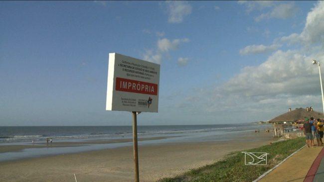Em plena virada de ano, todas as praias de São Luís estão impróprias ao banho