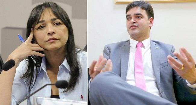 Senadora Eliziane Gama e o deputado federal Rubens Pereira Júnior
