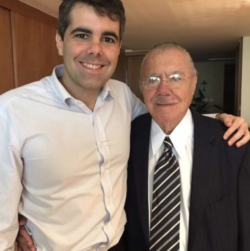 Adriano e o avô Sarney