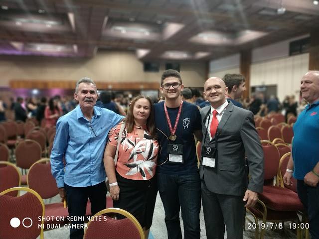 Aluno David Costa Pereira medalhista de ouro da OBMEP/2018
