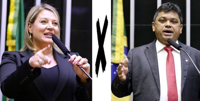 Deputada Joice Hasselmann e deputado Márcio Jerry em pé de guerra