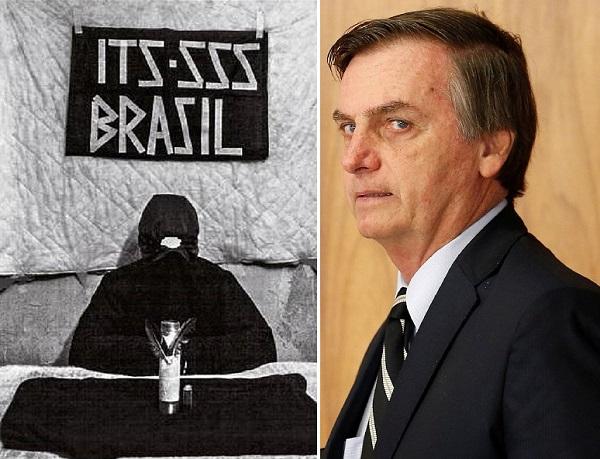 Imagem enviada a Revista Veja por um dos membros da SSS os terroristas já praticaram três atentados a bomba em Brasília