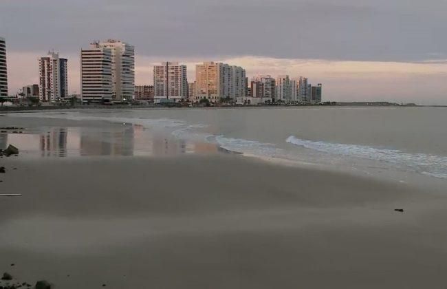 Segundo a Sema praia da Ponta d'Areia é uma das que lidera a lista com seis pontos de poluição