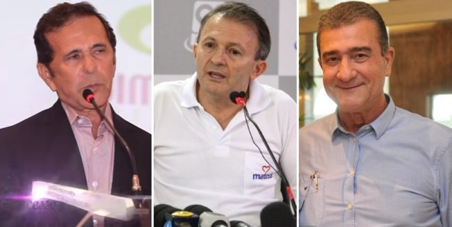 Empresários Antônio Barbosa, Ilson Mateus e Carlos de Oliveira