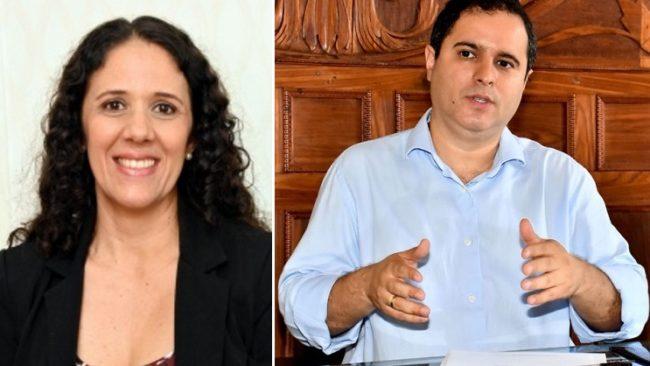 Conceição Castro ao lado do chefe Edivaldo Holanda Jr.