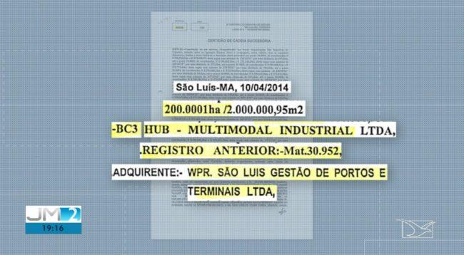 Documento apresentado pelas empresas alegando a compra da área onde está localizada a Comunidade Cajueiro em São Luís